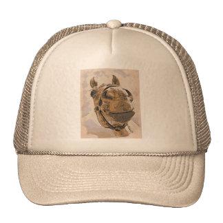 Horse face mesh hat