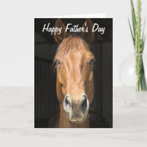 Horse Face Photograph Happy Father's Day Card
