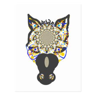 Horse Face Postcard