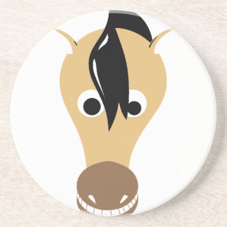 Horse Face Toothy Grin Coaster