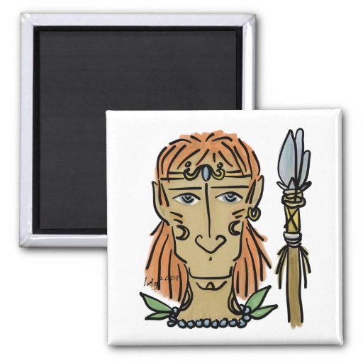 Horse-faced Warrior Square Magnet