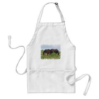 Horse Family Grazing Apron