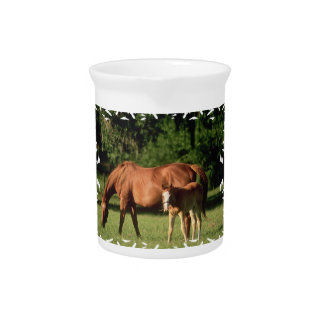 Horse Family Pitcher