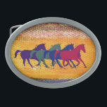 """horse farm animal belt buckle<br><div class=""""desc"""">Beautiful country style graphic illustration of wild horses running . For other horse items visit &quot;wild animals&quot; category</div>"""