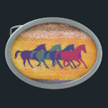 "horse farm animal belt buckle<br><div class=""desc"">Beautiful country style graphic illustration of wild horses running . For other horse items visit &quot;wild animals&quot; category</div>"