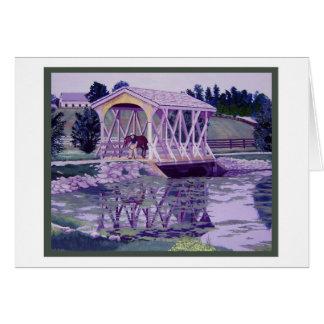 Horse Farm Bridge Card