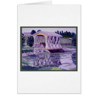 Horse Farm Bridge Greeting Cards