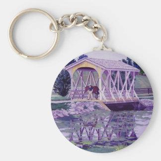 Horse Farm Bridge Keychain