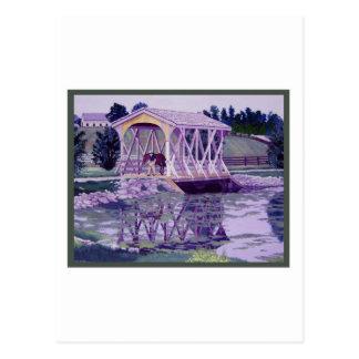 Horse Farm Bridge Postcard