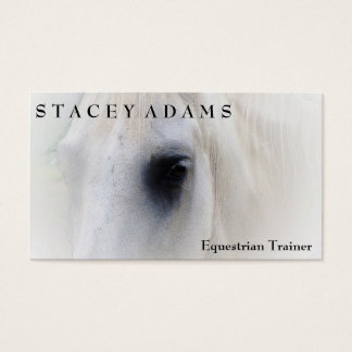 Horse Farm Equestrian Trainer Horseback Riding Business Card