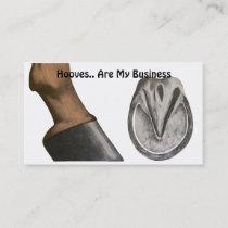 Horse Farrier Business Card