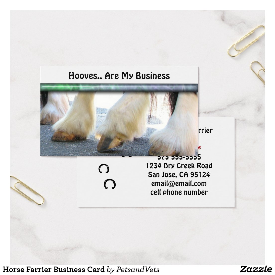 Horse Farrier Business Card