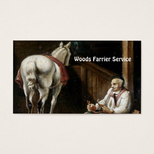 Farrier business card trendy business cards make your first horse farrier business card colourmoves