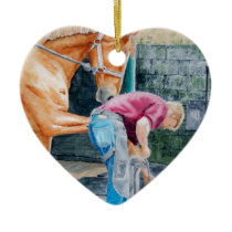 Horse Farrier Ceramic Ornament