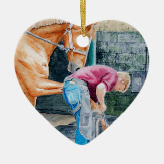 Horse Farrier Ceramic Ornament
