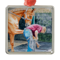 Horse Farrier Metal Ornament