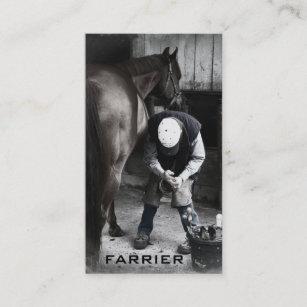 Farrier business cards templates zazzle horse farrier services hoof trim and shoe business card colourmoves