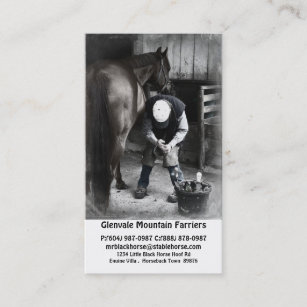 Farrier Business Cards Business Card Printing Zazzle