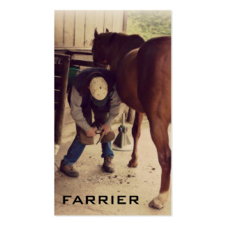 Horse Farrier Services - Hoof Trim and Shoe Double-Sided Standard Business Cards (Pack Of 100)
