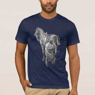 Horse Farrier Sidesaddle Vintage Print T-Shirt