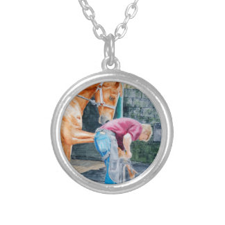 Horse Farrier Silver Plated Necklace