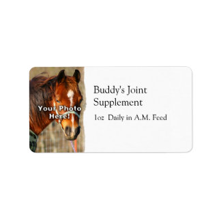 Horse Feed Label