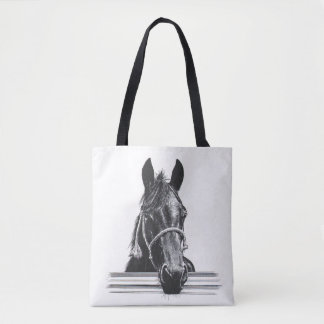 Horse & fence tote bag