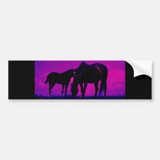 Horse & Filly Bumper Sticker