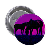 Horse & Filly Pinback Button