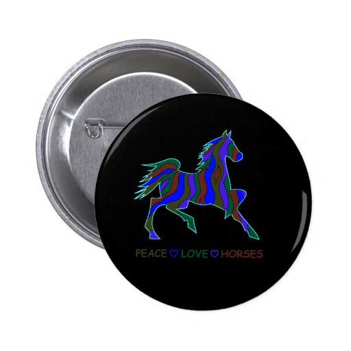 horse_flame_outlinePEACEDS Pinback Button