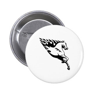 Horse Flames 2 Inch Round Button