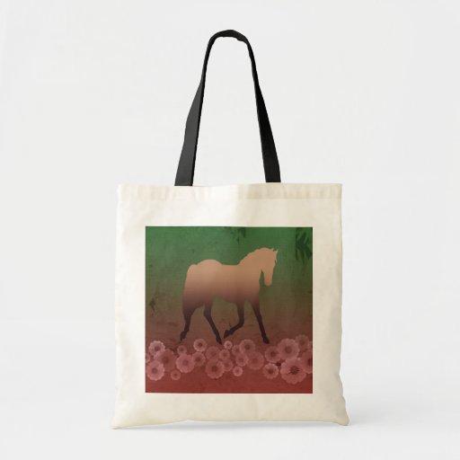 Horse / Flower Tote Bag