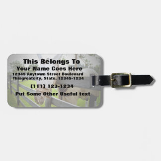 horse fly mask over fence pasture image tag for bags