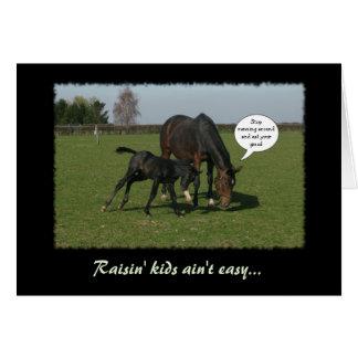 Horse & Foal Card