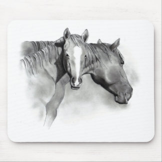HORSE: FOAL: PENCIL ART: REALISM MOUSE PAD