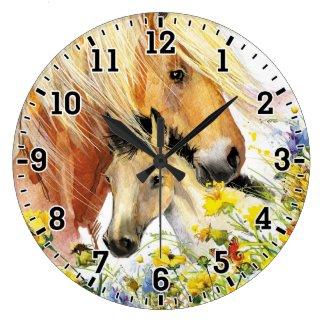 Horse & Foal Wall Clock