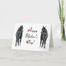 Horse/Foals Mother's Day Card