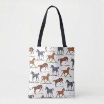 Horse Foals Tote Bag