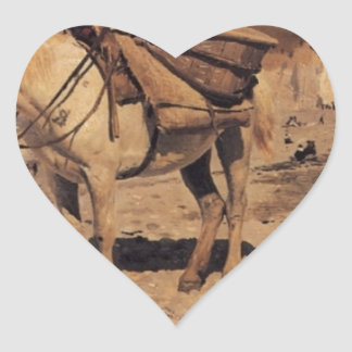 Horse for the stones collecting in the Vela Heart Sticker