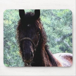 Horse Fresco Mouse Pad