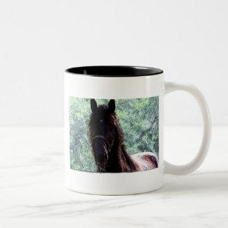 Horse Fresco Two-Tone Coffee Mug