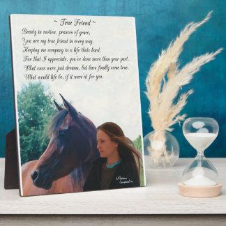 Horse Friend Poem Plaque