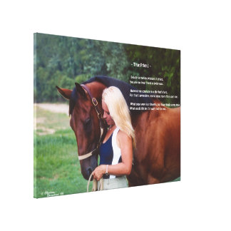 Horse friend poem Stretched Canvas Print