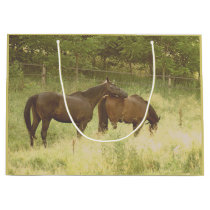 Horse Friends Beautiful Horses Animals Equine Large Gift Bag