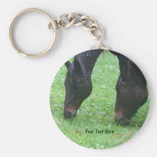 Horse Friends Grazing Animal Keychain