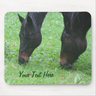 Horse Friends Grazing Animal Mousepad