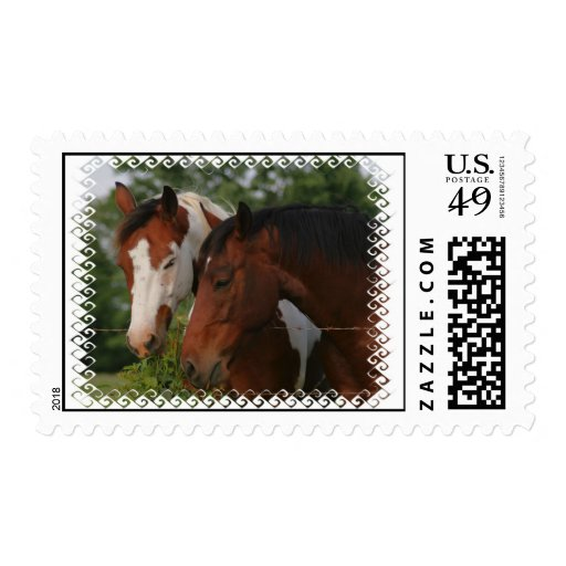 Horse Friends Postage Stamp