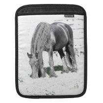 Horse Friesian Stallion Animal Nature Black white Sleeve For iPads