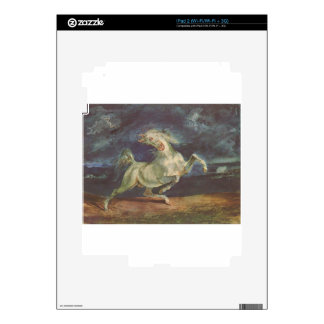 Horse Frightened by a Storm by Eugene Delacroix Decals For iPad 2
