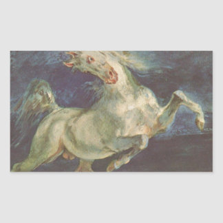 Horse Frightened by a Storm by Eugene Delacroix Rectangular Sticker